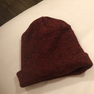 TARGET Red and Black patterned beanie
